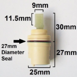 Monobloc Small 25mm Tap Cartridge Middle Seal - 62003067